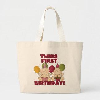 Twins 1st Birthday - Boys T-shirts and Gifts Jumbo Tote Bag