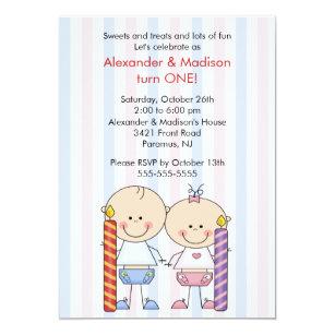Twin Boy Girl 1st Birthday Gifts Gift Ideas Zazzle Uk