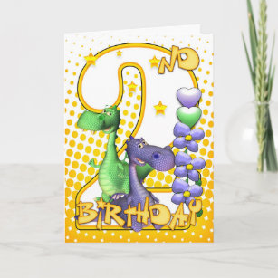 Twins 2nd Birthday Card