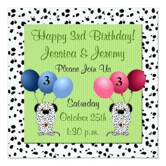3rd Birthday Party Invitations Announcements Zazzlecouk