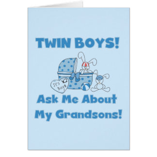 Twins-Ask About My Grandsons Tshirts and Gifts Greeting Card