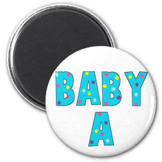 Twins Baby A Brights Refrigerator Magnet