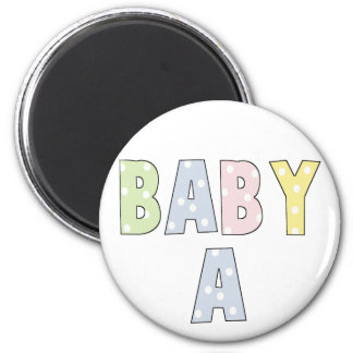 Twins Baby A Pastels 6 Cm Round Magnet