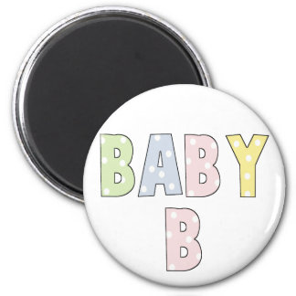 Twins Baby B Pastels 6 Cm Round Magnet