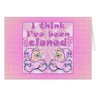Twins Baby Gifts Greeting Card