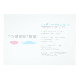 Twins Baby Shower Personalized Announcements