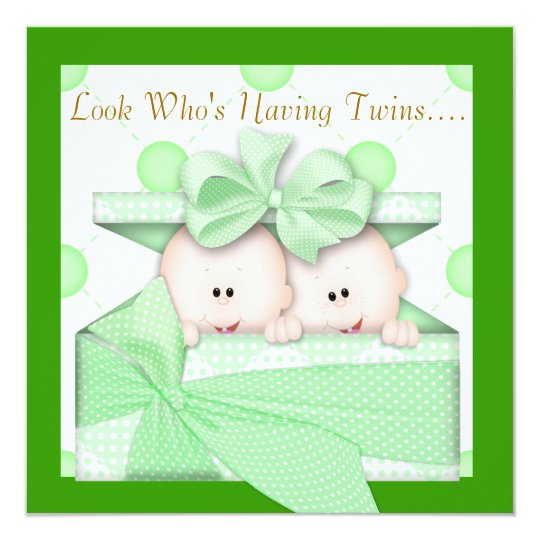 TWINS BABY SHOWER  INVITATION  GIRL OR BOY