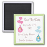 Twins & Balloons Save The Date Baby Shower