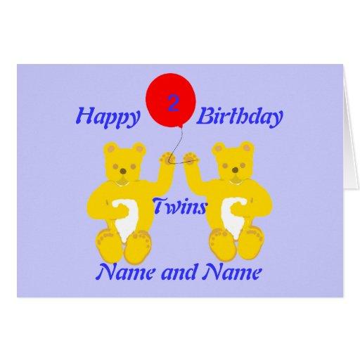 Twins Birthday Boys Card