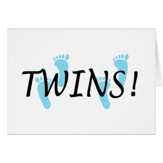 Twins (Blue Footprints) Card