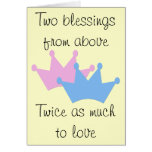 Twins Boy and Girl! Greeting Card