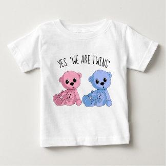 Twins Boy Girl Teddy Bear Shirt