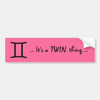 TWINS BUMPER STICKER