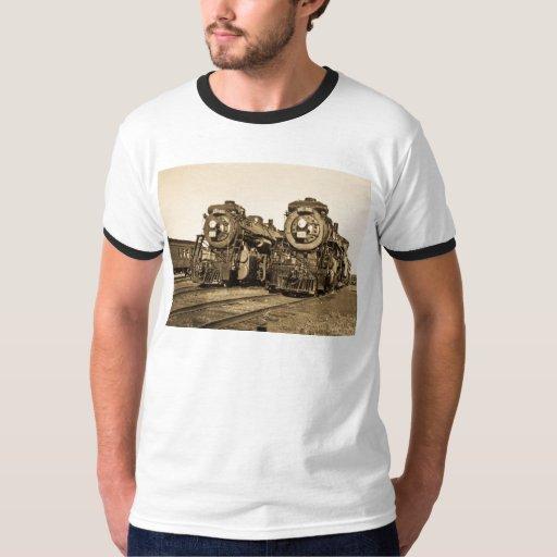 """Twins""  CN Railroad  Locomotives 3461 and 3501 Tshirts"