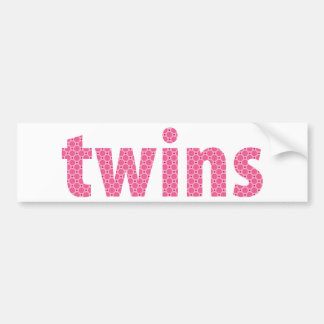 TWINS COLLECTION - girls {pink} Bumper Sticker