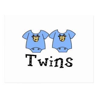 Twins Cute Bodysuit 2 boys Postcard