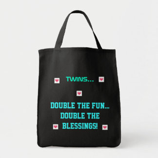 Twins/Double Fun..Blessings Grocery Tote