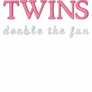 TWINS, double the fun Embroidered Jackets