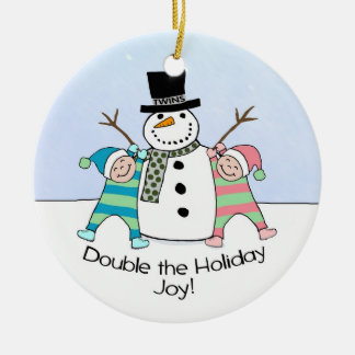 TWINS: Double the Holiday Joy! Christmas Ornament