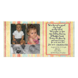 Twins First Birthday Invitation Photocard Customized Photo Card