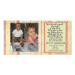 Twins First Birthday Invitation Photocard Photo Cards