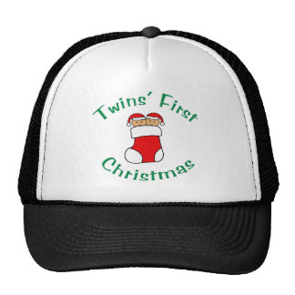 Twins First Christmas - Stocking (no date) Cap