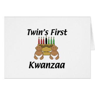Twins First Kwanzaa Card