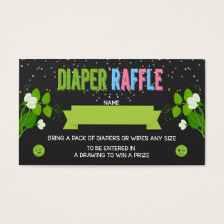 Twins Gender Reveal 2 Peas in a Pod Diaper Raffle Business Card