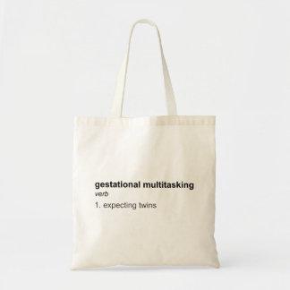 Twins / Gestational Multitasking Tote-multi styles Budget Tote Bag