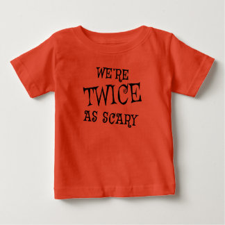 TWINS Halloween Tshirt TWICE AS SCARY