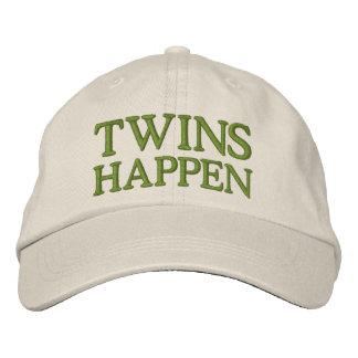 Twins Happen Embroidered Cap