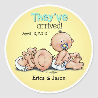 Twins have arrived sticker