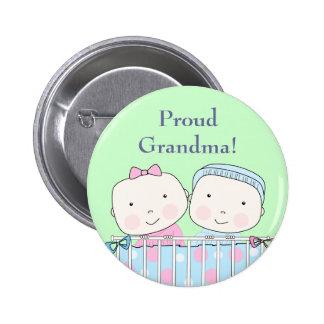 Twins in Crib Grandparent Pin