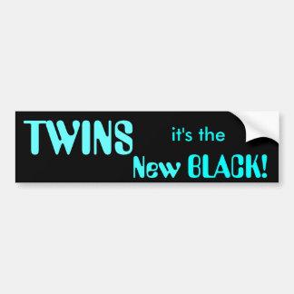 TWINS it s the New BLACK Bumper Sticker