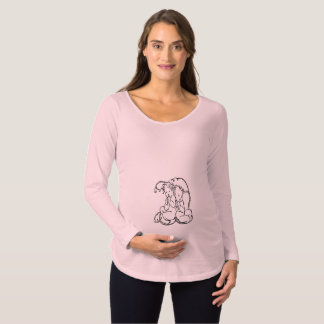 Twins Maternity Shirt - Long Sleeves Vintage Pink
