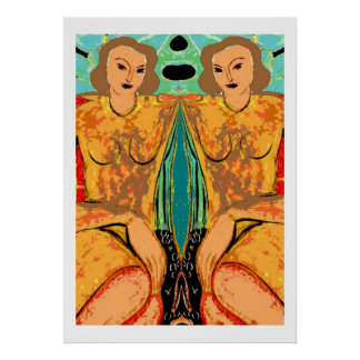Twins Matisse Style Poster