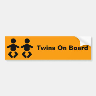 Twins On Board Bumper Sticker