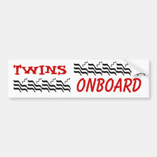 Twins ONBOARD Bumper Sticker