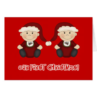 Twins:  Our First Christmas Customizable Card