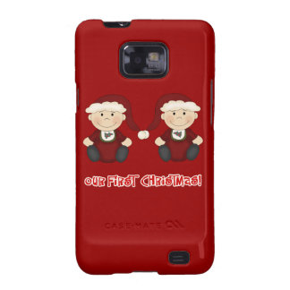 Twins:  Our First Christmas Customizable Samsung Galaxy Cases