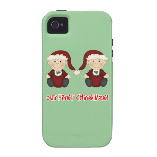 Twins:  Our First Christmas Customizable iPhone 4/4S Cases