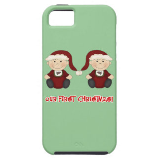 Twins:  Our First Christmas Customizable iPhone 5 Covers