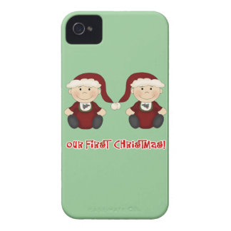Twins:  Our First Christmas Customizable Case-Mate iPhone 4 Cases