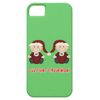 Twins:  Our First Christmas Customizable Barely There iPhone 5 Case