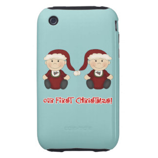 Twins:  Our First Christmas Customizable iPhone 3 Tough Cases