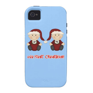 Twins:  Our First Christmas Customizable Case For The iPhone 4
