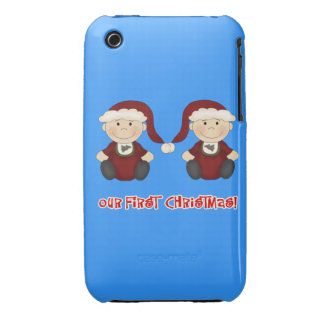 Twins:  Our First Christmas Customizable Case-Mate iPhone 3 Cases