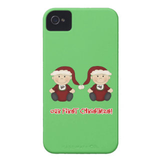 Twins:  Our First Christmas Customizable iPhone 4 Case