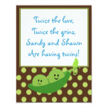Twins Peas in a Pod Baby Shower Invitation