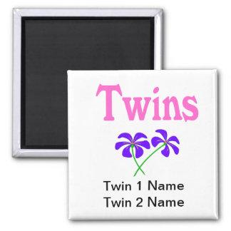 Twins (Pink) Fridge Magnets